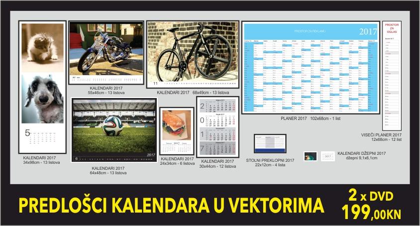 Predlošci kalendara u vektorima