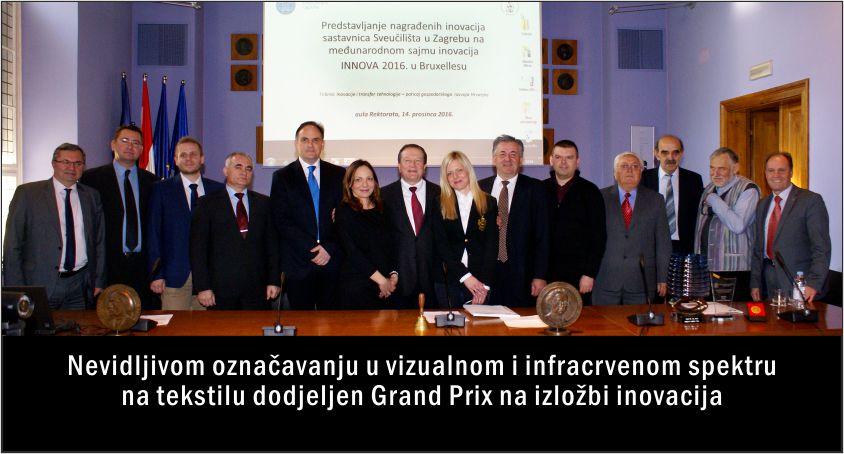 Grafički fakultet Sveučilišta u Zagrebu dobio je Grand Prix nagradu u Bruxellesu
