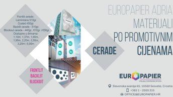 EUROPAPIER ADRIA – BANNER 6,95 kuna a MESH 8,25 kuna