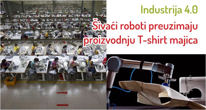 Šivaći roboti preuzimaju proizvodnju T-shirt majica