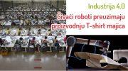 Roboti šivaju T-shirt majice
