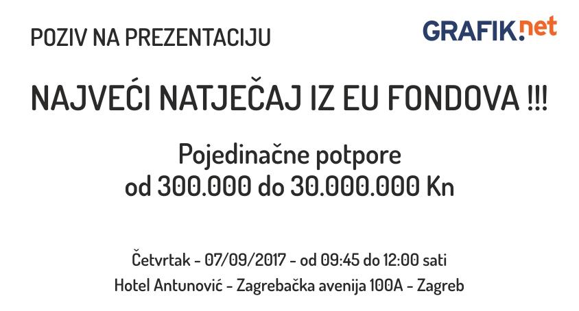 Kreće najveći natječaj iz EU fondova