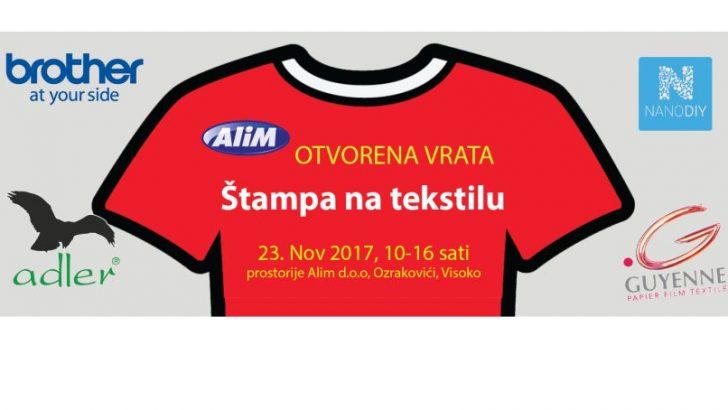 Prezentacija štampe na tekstilu u tvrtki Alim