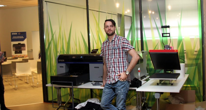 Marko Dikanić, DIT sa novim Epson SC-S2100 t-shirt pisačem