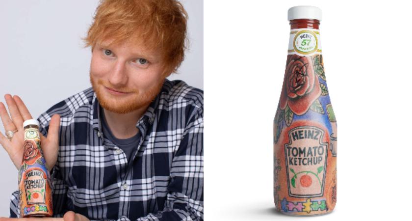 Ed Sheeran i etiketa za ketchup